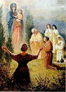 Obraz zasłona dla wizerunku Matki Bożej Wychowawczyni
