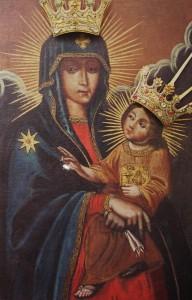 Wizerunek Matki Bożej Wychowawczyni - bez szat koronacycjnych
